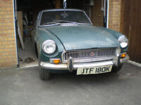 1971 Chrome Bumper MGB GT for Restoration