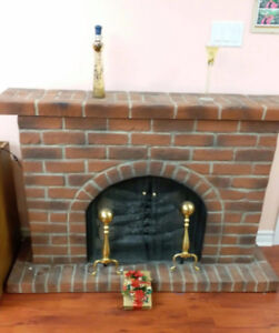 """Indoor Electric Portable Fireplace (56.5""""W x 37.5""""H x 19""""L)"""