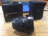 Sigma f3.5 10-20mm wide angle lens Canon fit