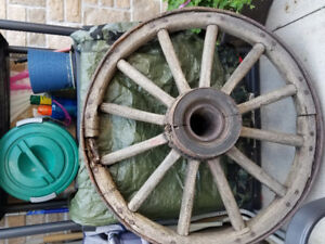 Old carriage wheel