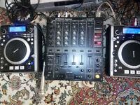 Pair of Numark ICDX & Pioneer DJM 500