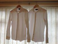 White shirts x 2 River Island