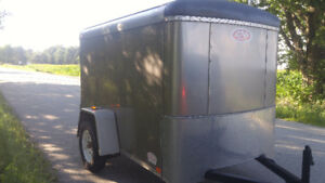 Like New 2013 Atlas 5x8 Enclosed Trailer with Barn Doors