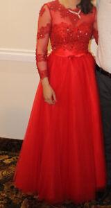 Red prom / evening dress