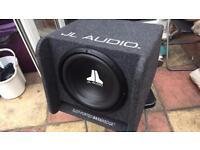 "Sub 12 "" Jl audio and alpine amp all like new . Good bass"