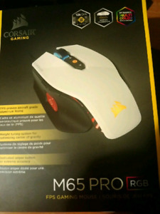 Corsair M65 PRO RGB GAMING Mouse for PC (White)