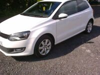 VOLKSWAGEN POLO MATCH. 1.2 PETROL 3 DOOR. WHITE 61 reg