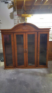 7 Piece Oak Dining Room Set with Buffet and Hutch