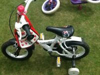 Girls age 3-5 bike 12.5 inch wheels from halfords