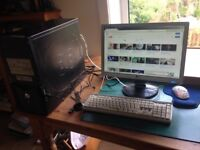 Desktop Computer - Powerful, internet ready (flatscreen monitor, WIFI adapter, mouse, keyboard, etc)