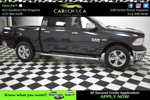 2017 RAM 1500 BIG HORN CREW 4X4-BACKUP CAM*BLUETOOTH*LOW KM