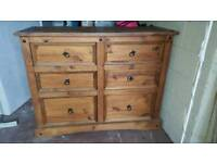 Large chest of oak drawers