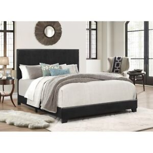 Queen faux leather bed set
