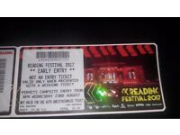 Reading Festival 2017 Warly Entry Ticket 23rd August