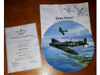 Collectible War Plane Plate