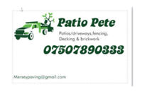 Patios/Driveways, fencing, decking , brickwork etc.