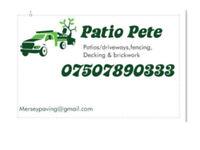 Patios/driveways, decking , fencing brickwork