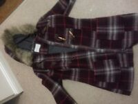 Indigo winter jacket from M&S size 8