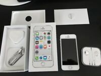 iPhone 5S 16GB In Excellent condition (02 Network) with Box and Brand New Apple Unused Earphones