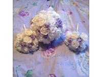 Brides and bridesmaids flowers