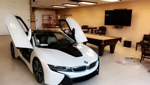 Mint condition. 2015 BMW i8. Pearl white addition for sale.