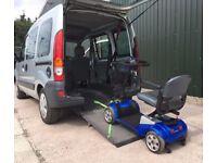 Renault Kangoo Auto WAV Wheelchair Mobility Scooter transport