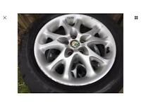 "4 Alfa Romeo alloy wheels 15"" all with good tyres 195/60/15 5x98"