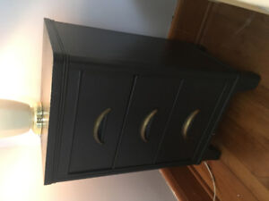 Beautiful Painted Wood Bedside Table/Table With Drawers