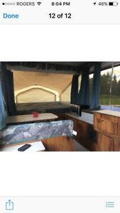 Rock wood camper