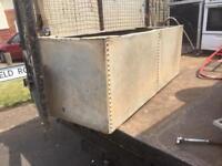 Large galvanised tank