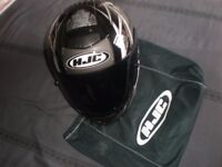 HJC NEW MOTORBIKE HELMET WITH BAG AND BLACK VISOR LTD ED NO MARKS HELMET HJC