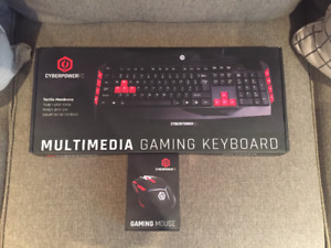 CyberPowerPC Gaming Keyboard and Gaming Mouse-$100-Never Used