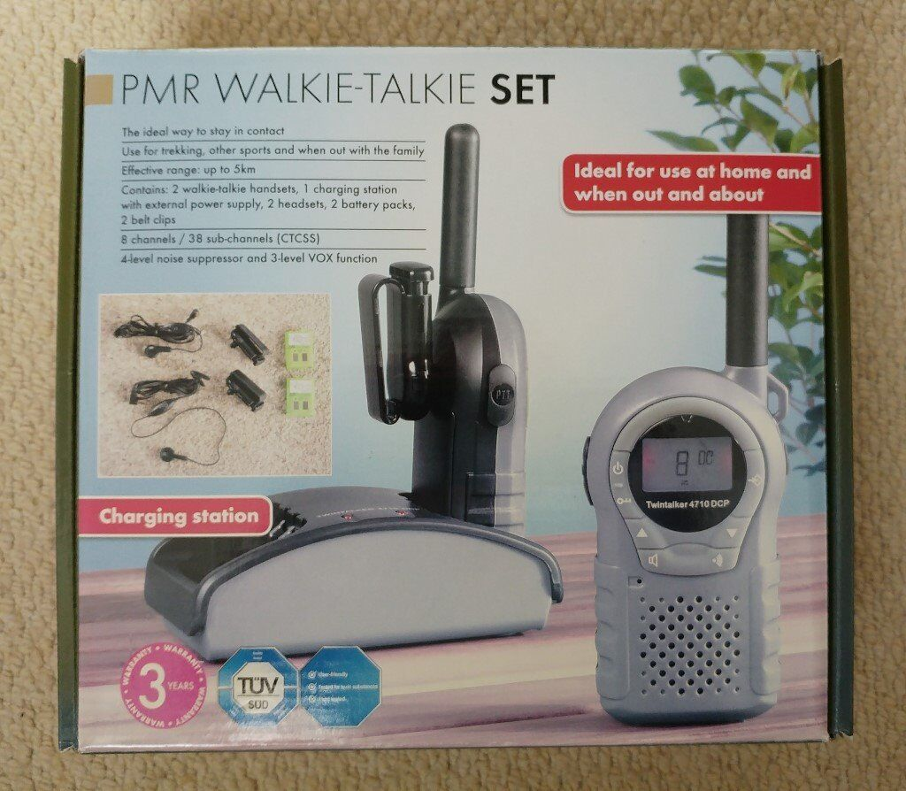 Ucom Twintalker 4710 Duo Combi Pack Walkie Talkie 2 Way Radio In Chager Baterai Bm 038
