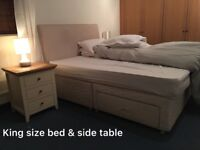 King size bed + 2 side table