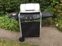 Gas fired BBQ with two main burners and side burner!