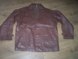 "MENS LEATHER JACKET size 52"" chest £10"