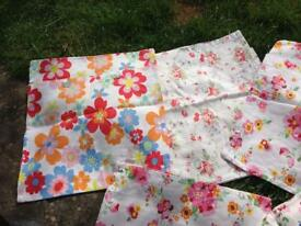 PRETTY SHABBY CHIC CATH KIDSTON FLORAL COTTON CUSHION COVERS 7 AVAILABLE