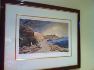 """LIMITED EDITION PRINT BY EMILY CARR """"SHORELINE"""" 12/595"""
