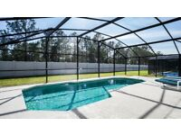 Four bed three bath villa with south facing pool on gated community. 15-20 mins to Disney, Florida.