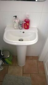 sink and toilet with Bristan tap