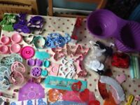 Selection of cake decorating accessories