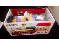 Epson printer and loads of ink all leads and disc included