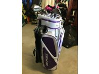 TAYLOR MADE GOLF CLUBS & BAG COMPLETE. LITERALLY AS NEW. USED TO PLAY 7 HOLES IN TOTAL. £260