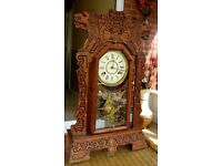 GINGERBREAD CLOCK, Made by New Haven in USA
