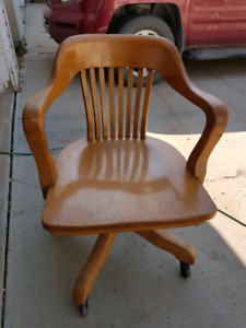 Old oak office chair