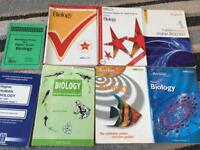 8 x Biology revision books for sale, practise exam papers