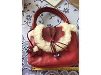 Red radley small handbag vgc
