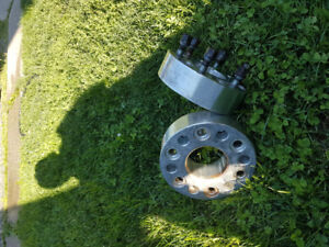 Two 2 inch wheel spacers gm 6 bolt