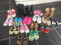Girls Bundle of shoes size 6-7 next, TOMs, UGGs, Converse