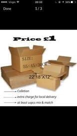 £1 good quality boxes for sale permanent stock